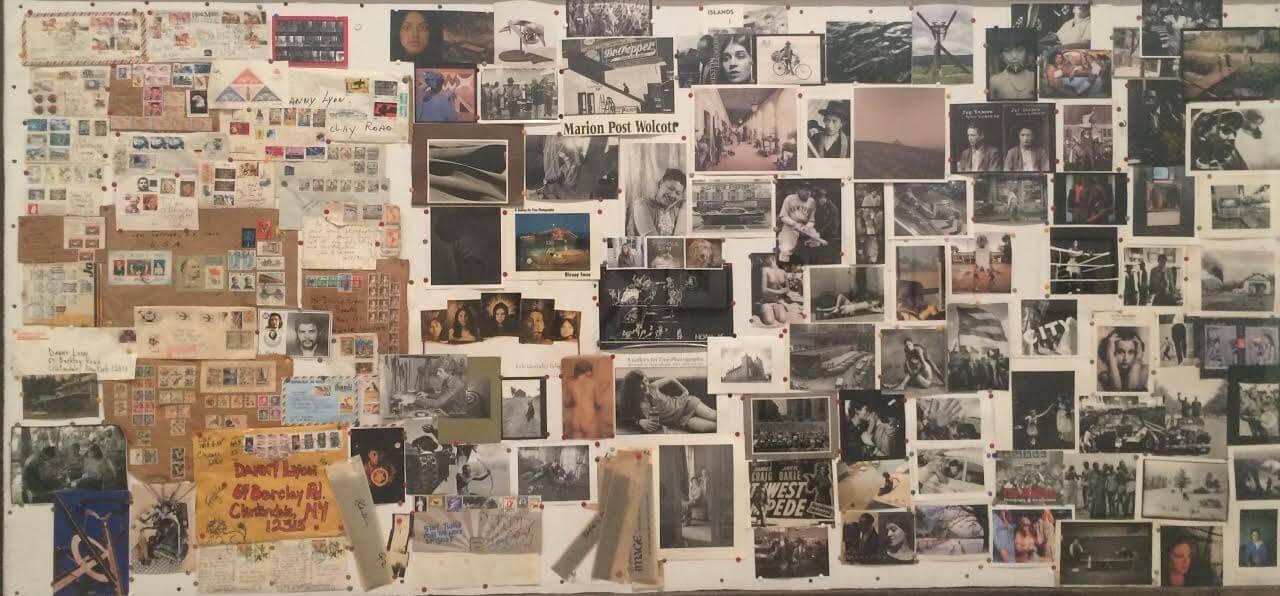 דני ליון, פרט מתוך לוח הקיר בסטודיו, 1984-2008