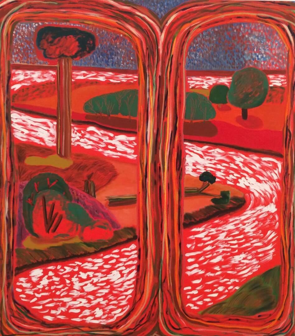 5- Shara Hughes, Split Ends, 2016