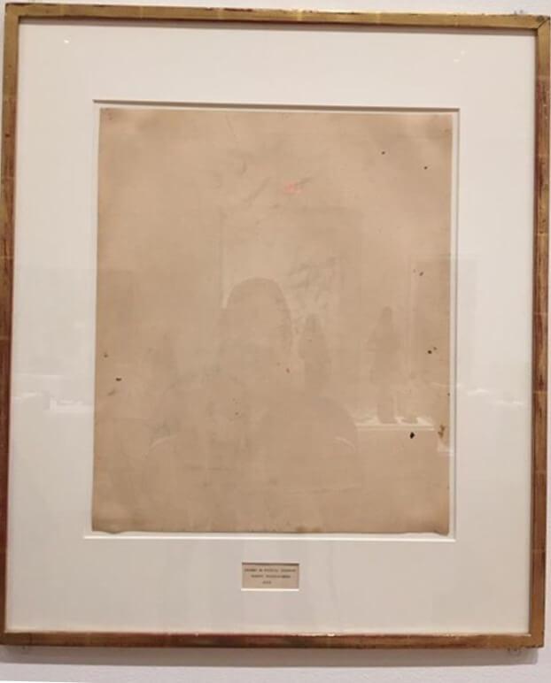 ראושנברג, רישום של דה קונינג מחוק, 1953