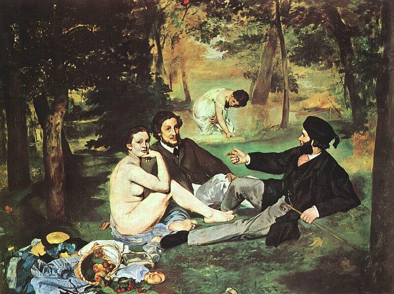 אדוארד מאנה, ארוחת צהריים על הדשא, שמן על בד, 1862