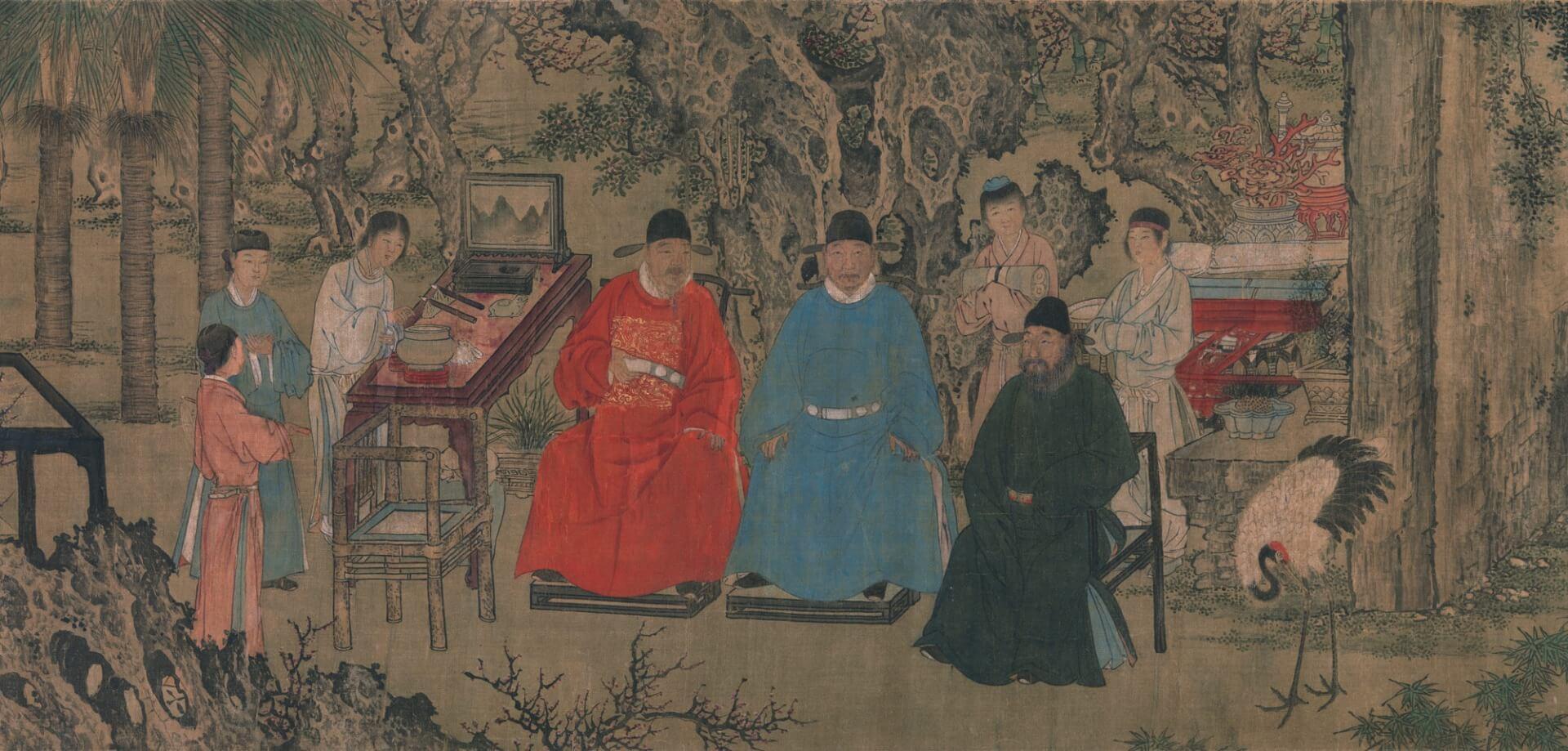 אמן לא ידוע, 1437, שושלת מינג בסין, דיו ופיגמנטים על מגילת משי,