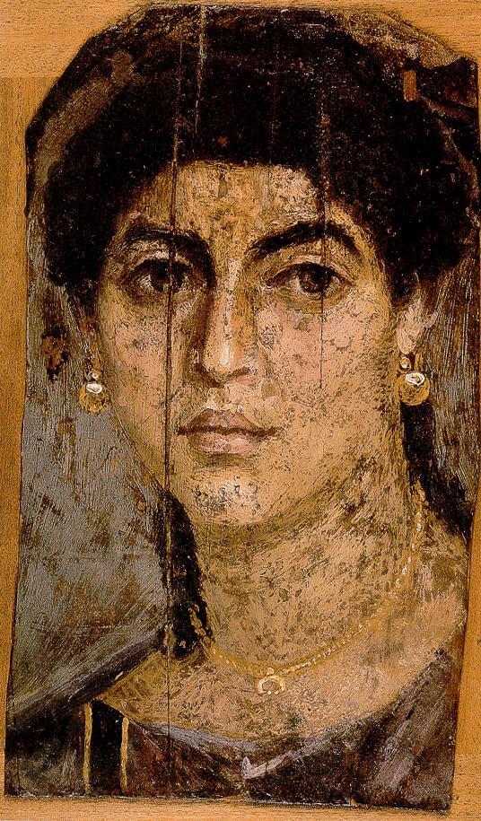 דיוקן אישה, מצרים, המאה הראשונה לספירה