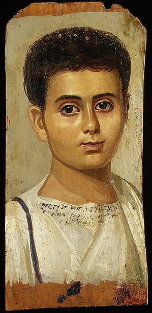 דיוקן נער, מצריים, המאה הראשונה לספירה