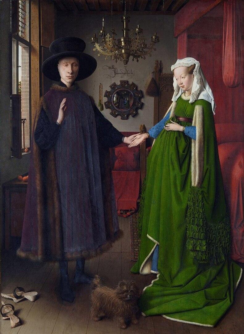 ואן אייק, דיקון הזוג ארנולפיני, 1434