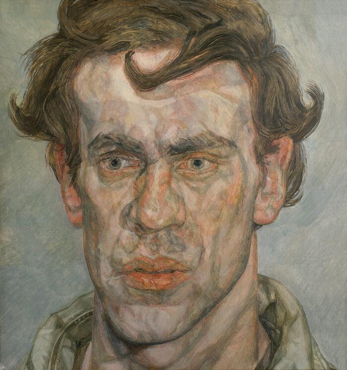 לוסיאן פרויד, צייר צעיר, 1959