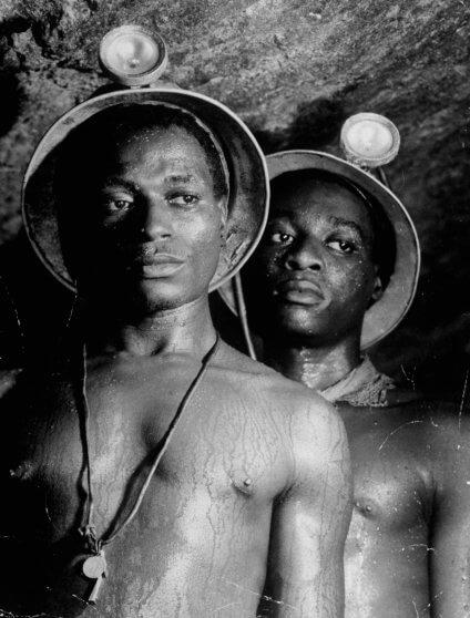 מרגרט בורק ווייט, כורים בדרום אפריקה, 1950