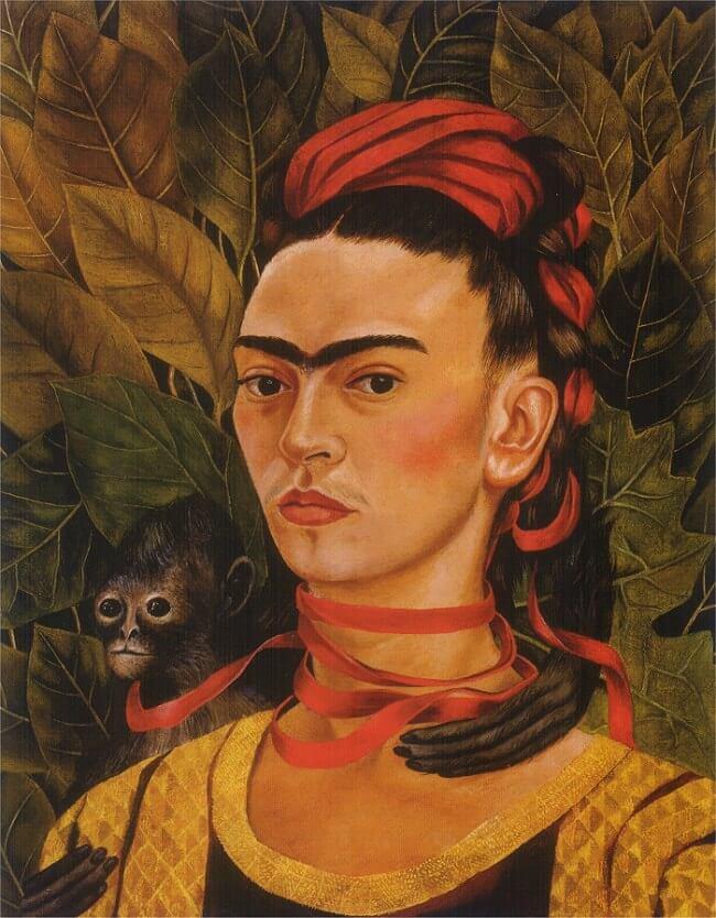 פרידה קאלו, דיוקן עצמי עם קוף, 1940
