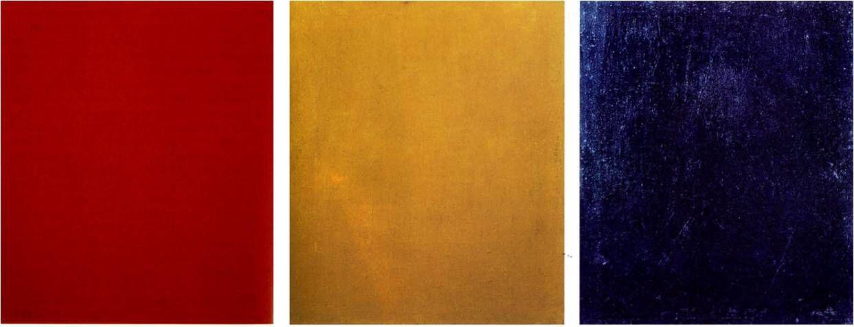 אלכנסדר רודצנקו, צבע אדום טהור, צבע צהוב טהור, צבע כחול טהור, 1921