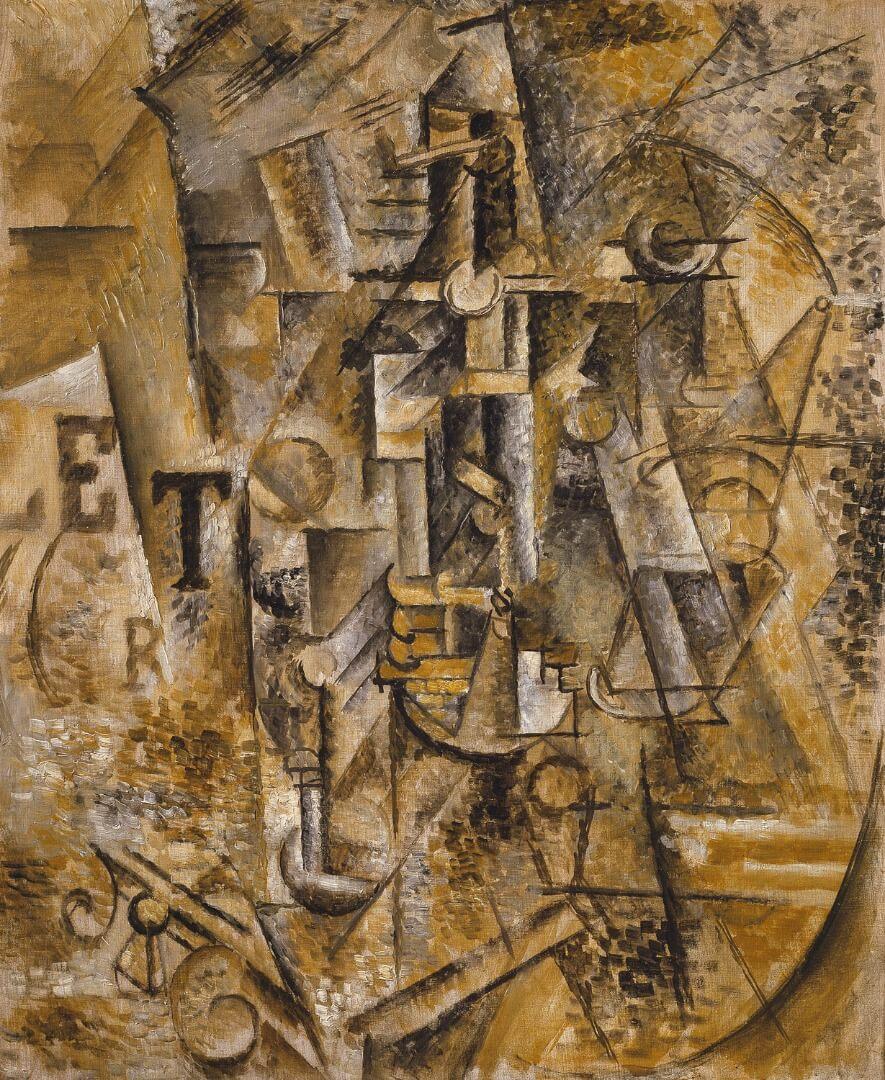 פיקאסו, דומם עם בקבוק, 1911