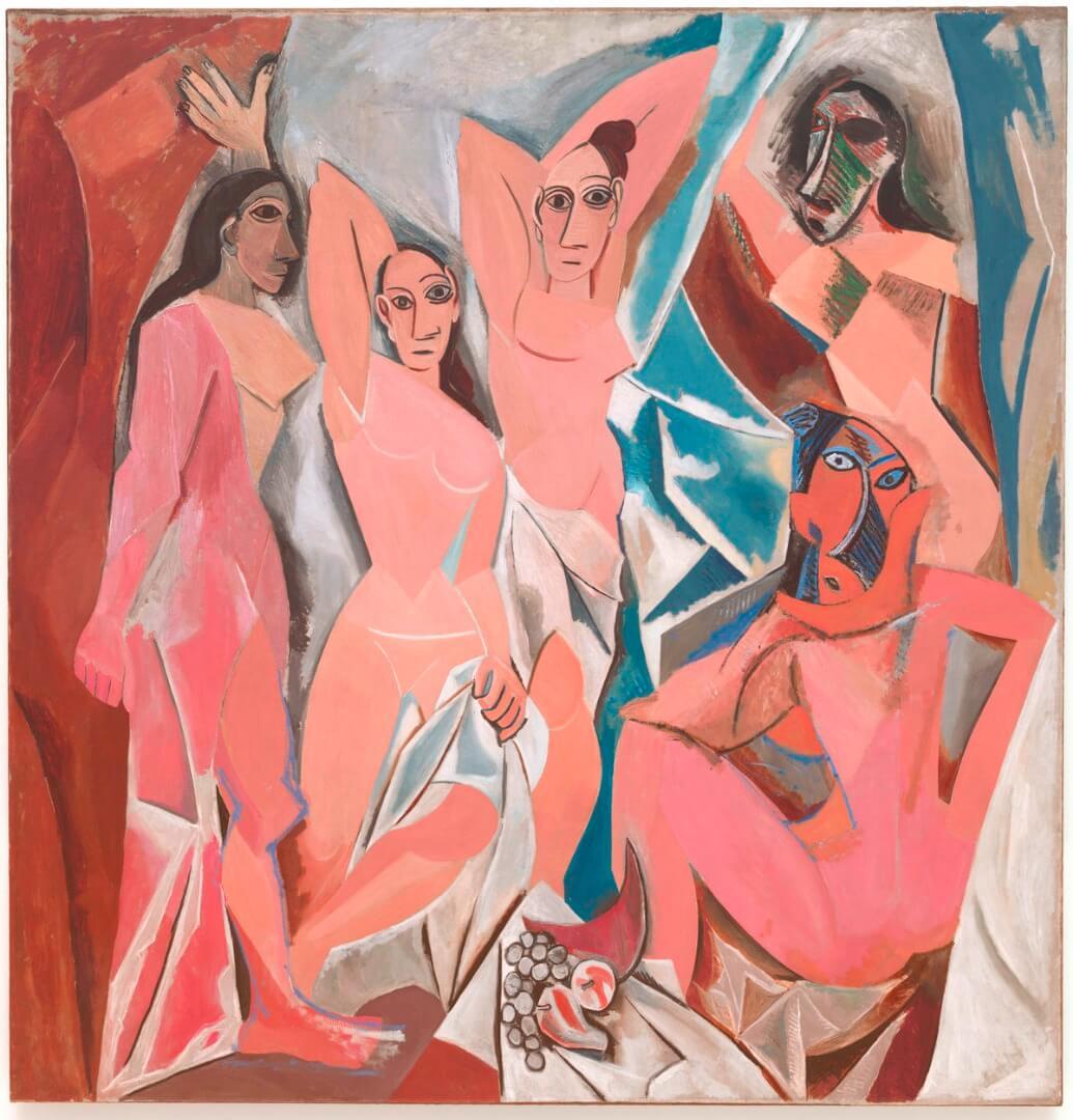 פיקאסו, העלמות מאביניון, 1907