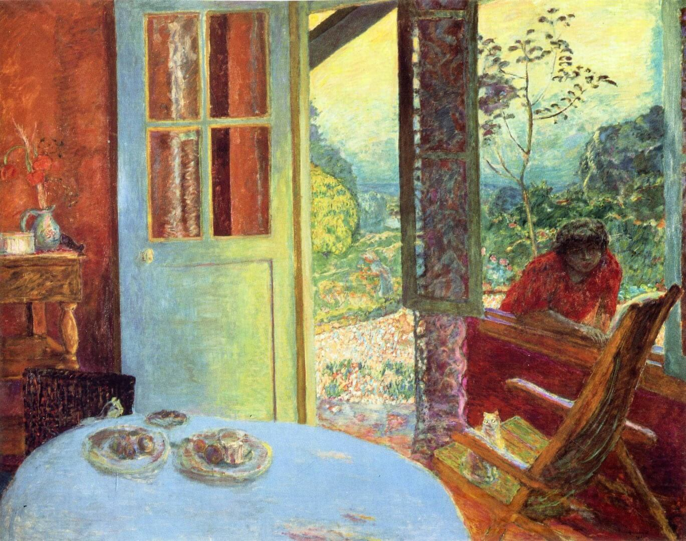 The_dining_room_in_the_country_by_Pierre_Bonnard_(1913)