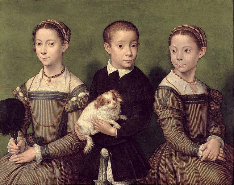 אנגוויסילה אחיות ואחד של האמנית 1570 לערך