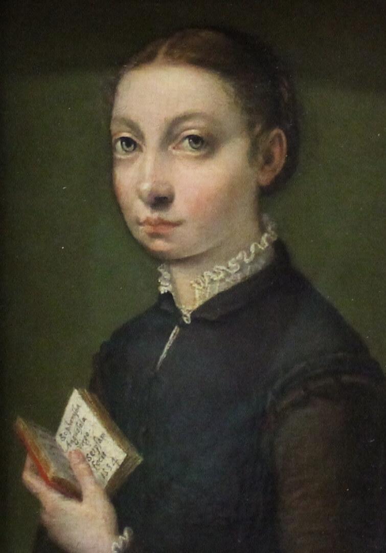 אנגוויסולה דיוקן עצמי 1554