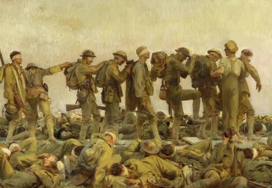גון סינגר סרגנט, נפגעי גז, 1919