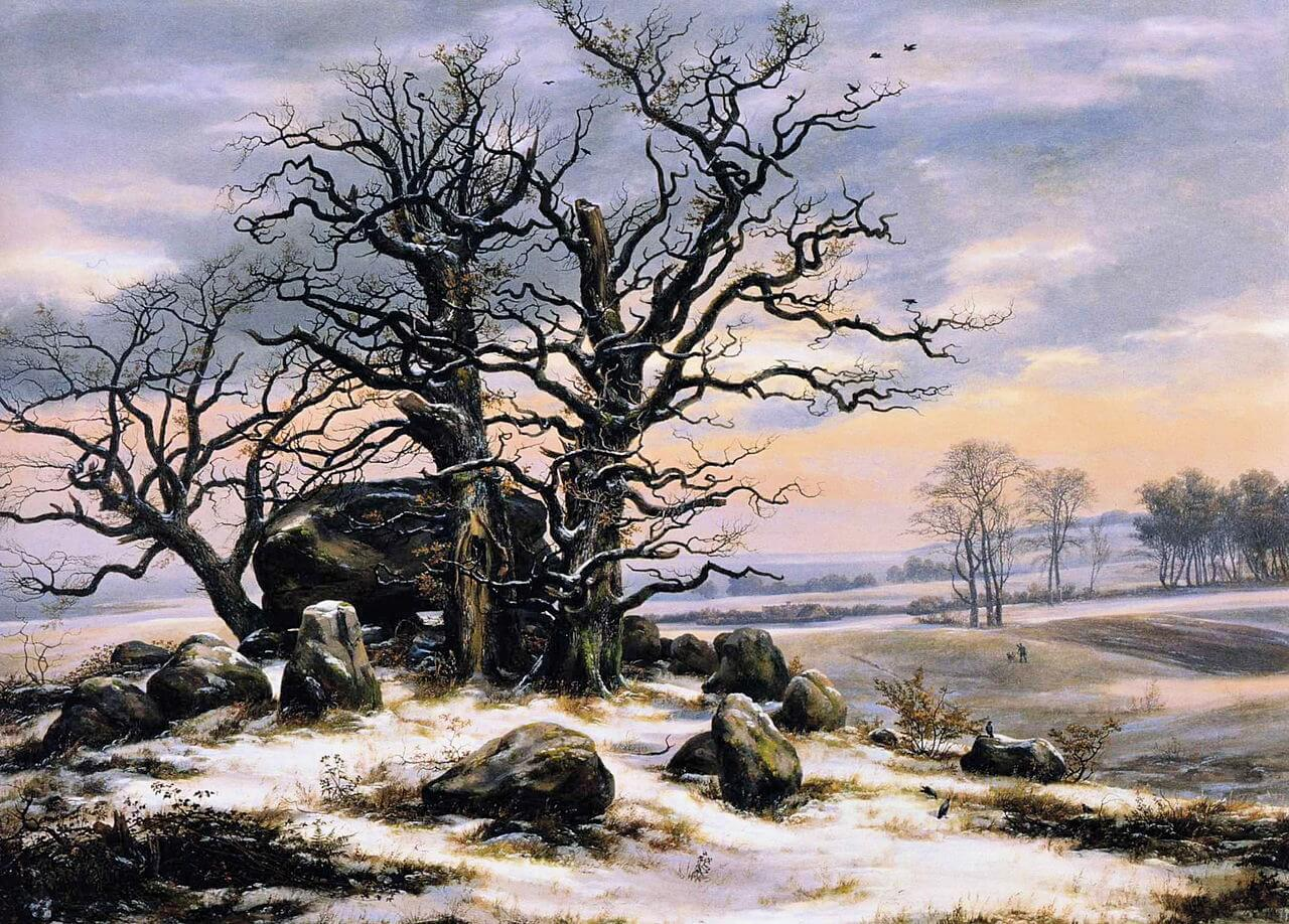 1280px-Johan_Christian_Dahl_-_Megalith_Grave_in_Winter