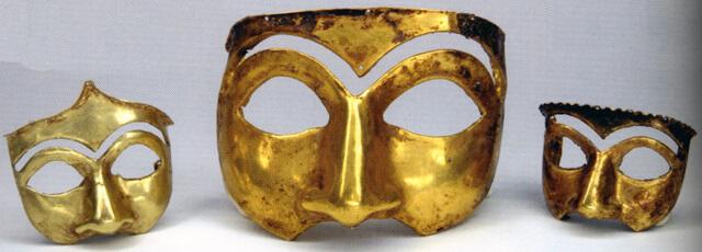 מסכות זהב, המאה הרביעית לפני הספירה, פרס