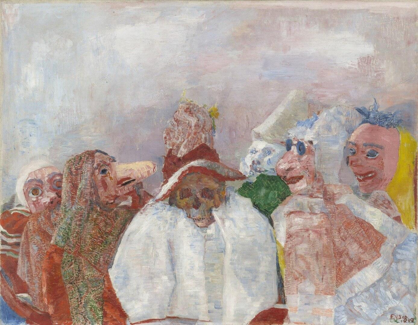 גיימס אנסור, מסכות מול המוות, 1880