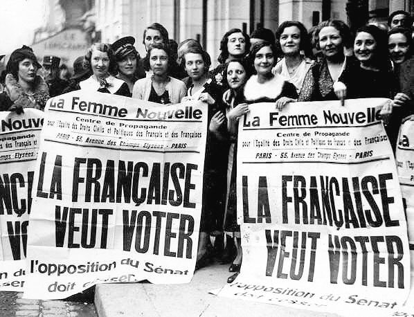 הפגנה למען זכות הבחירה לנשים בצרפת, 1944