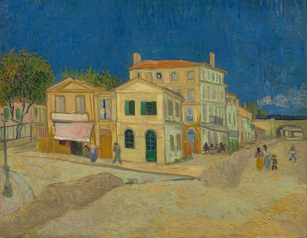 ואן גוך, הבית הצהוב - רחוב - 1888