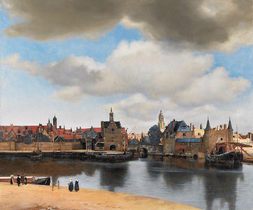 ורמיר, נוף העיר דלפט 1660 ככל הנראה