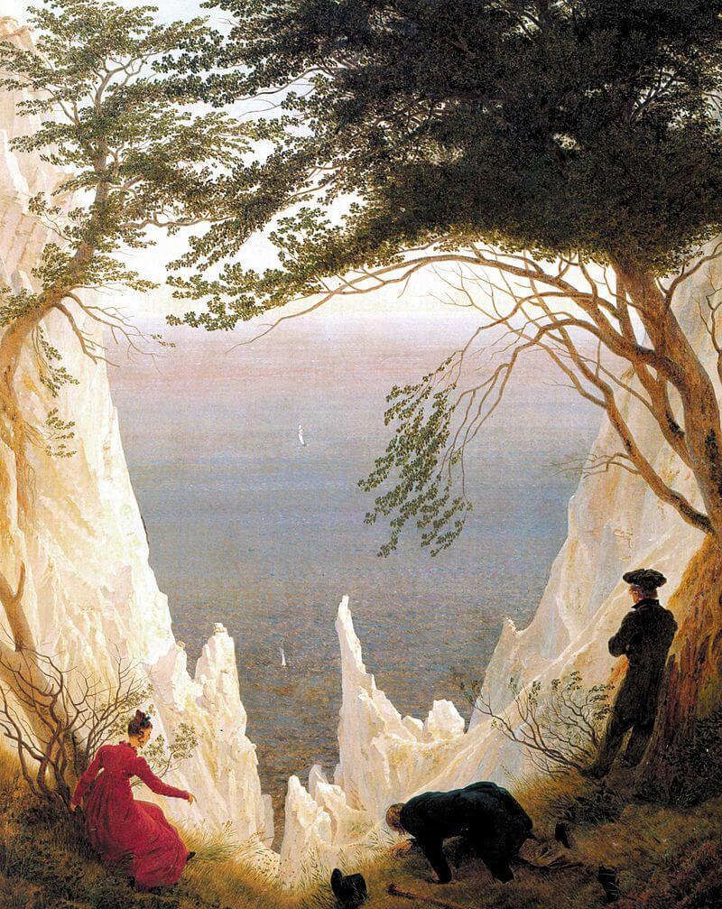 קספר דויד פרידריך, צוקי הגיר בריגן, 1818