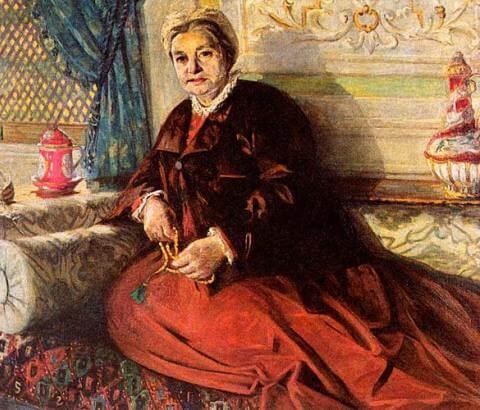 Older-woman-with-prayer-beads-by-Mihri-Müşfik - 1917
