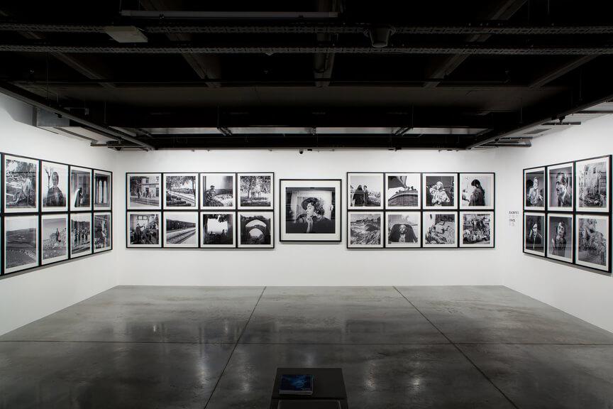 מראה הצבה של התערוכה של ילדיז מורן