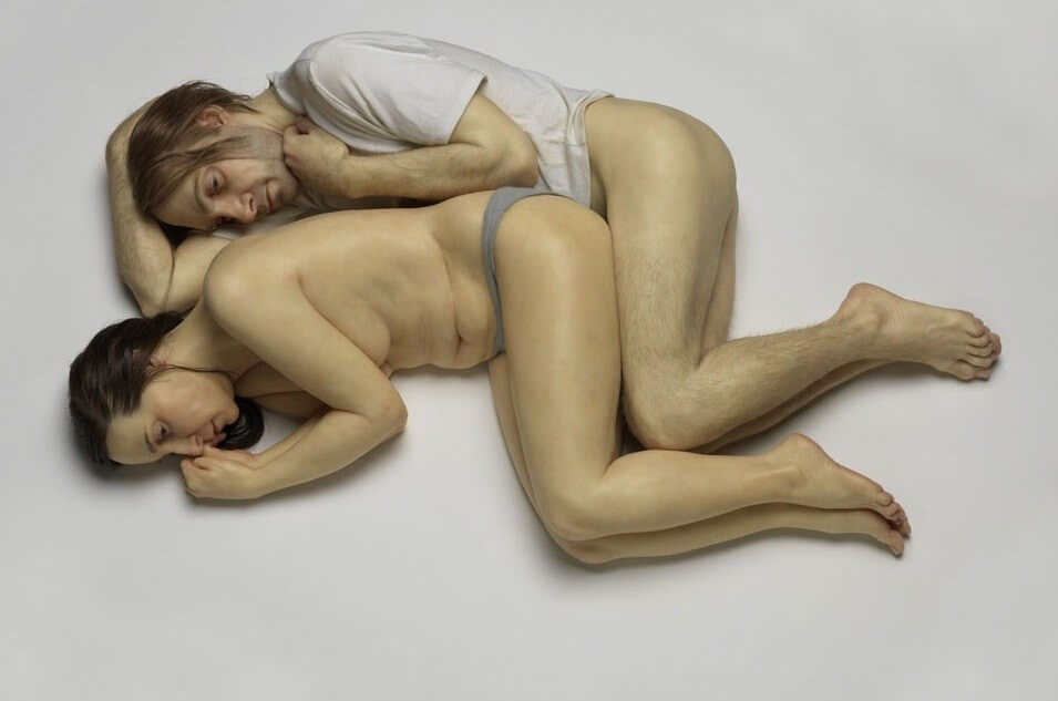 Spooning Couple by Ron Mueck