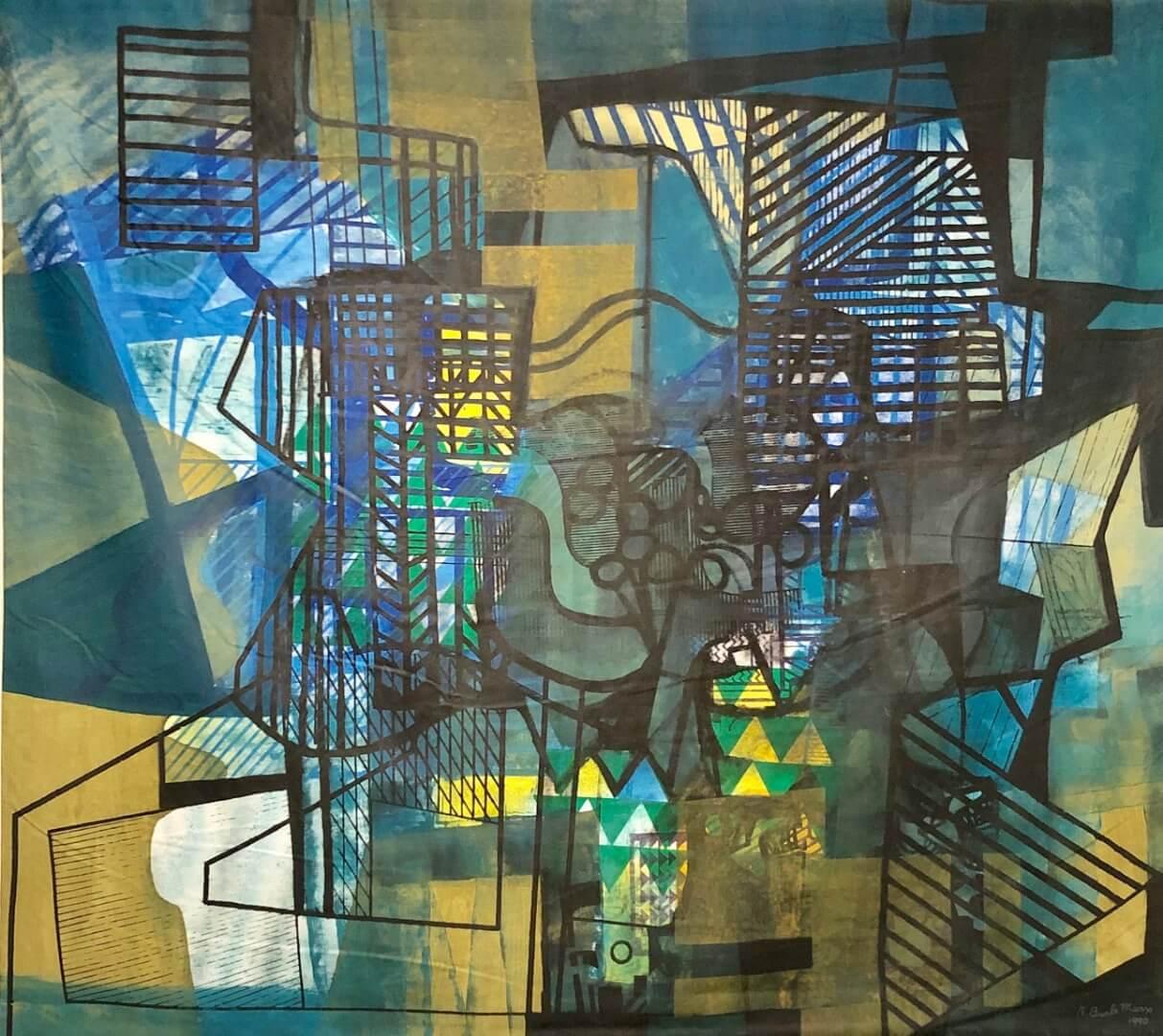 1_Roberto Burle Marx, Untitled, 1990, Acrylic on fabric