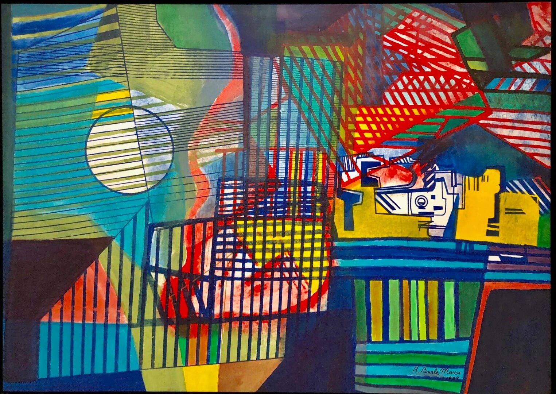 5_Roberto Burle Marx, Untitled, 1989, Oi on silckscreen on canvas