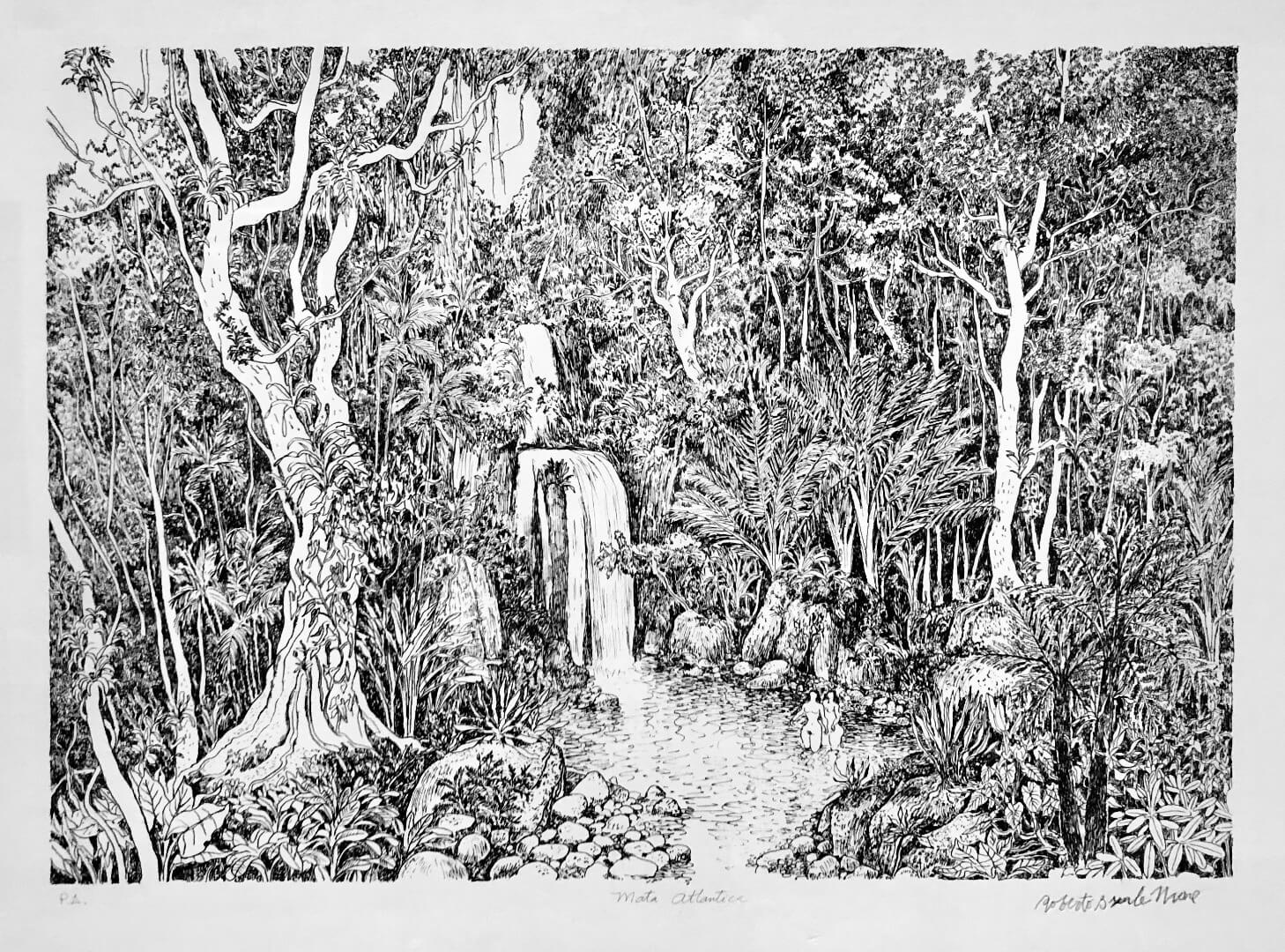 6_Roberto Burle Marx, Mata Atlantca, 1991, Litograph on paper