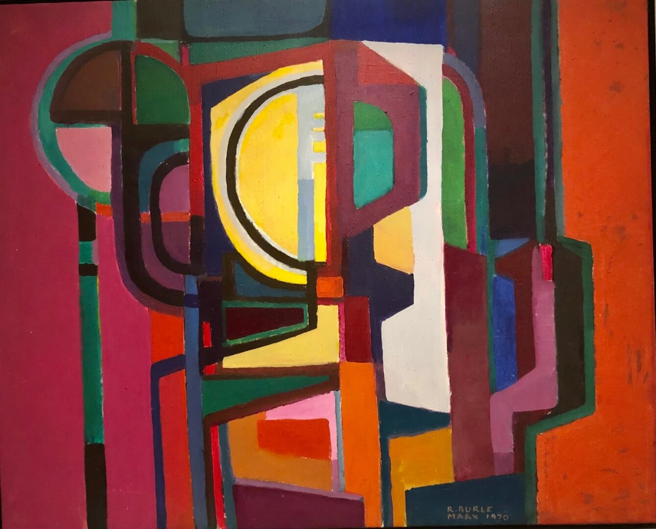 4_Roberto Burle Marx, Untitled, 1970, Acrylic on canvas