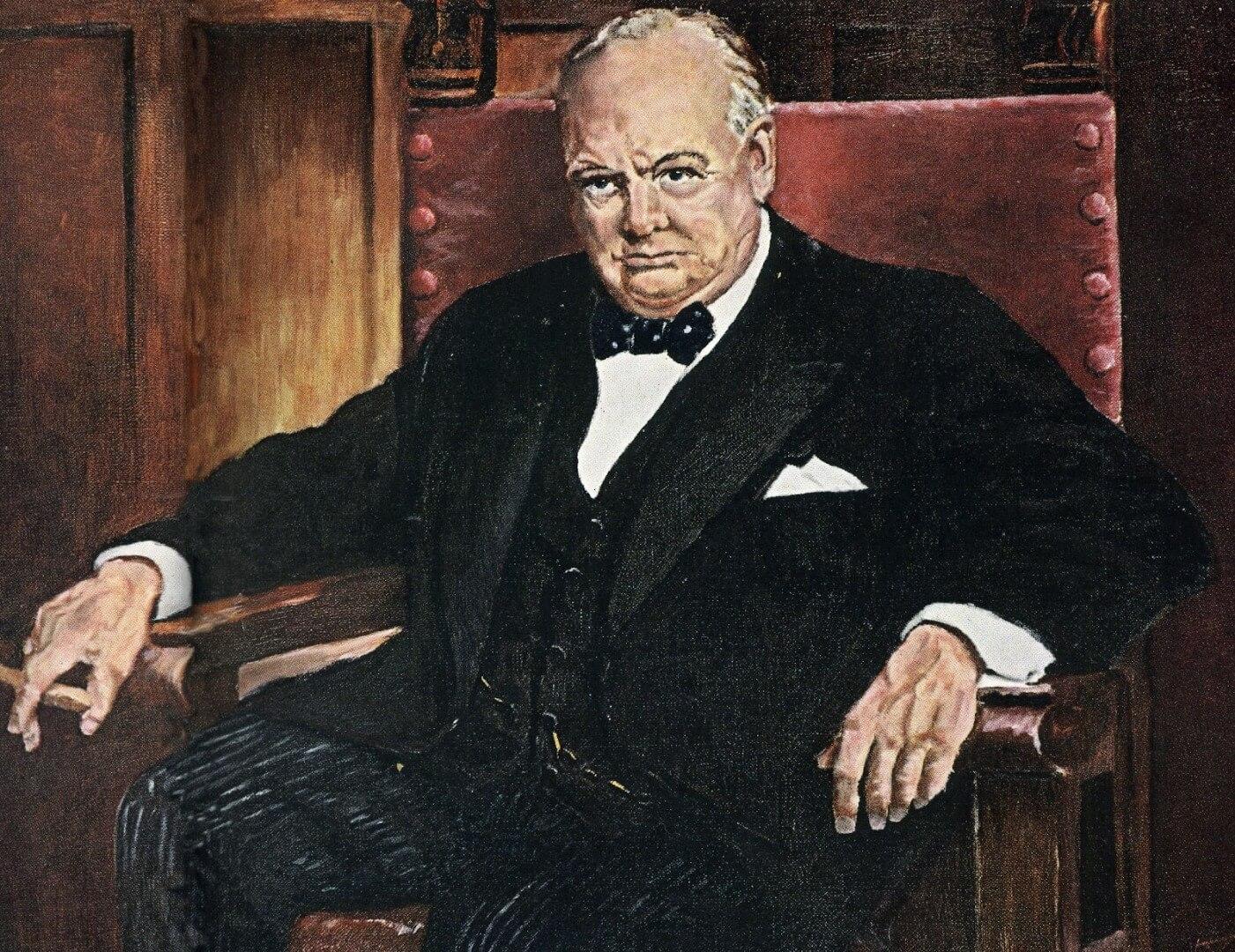 Eisenhower painting of churchill