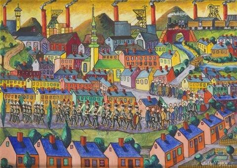 leopold-wrobel-miners-parade