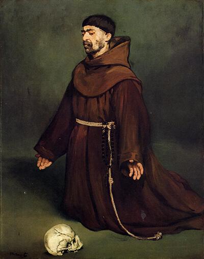 The Monk at Prayer Edouard Manet - 1865