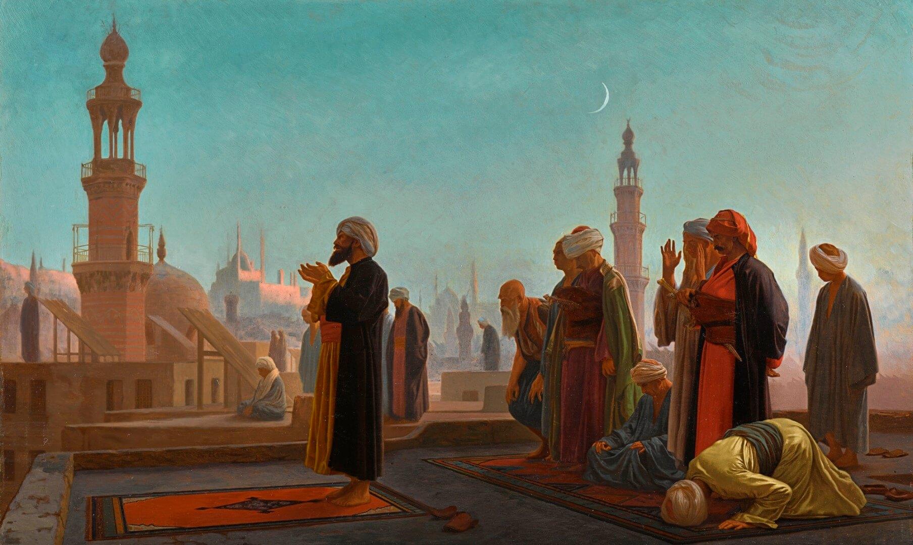גרום, תפילת ערב בקהיר 1865