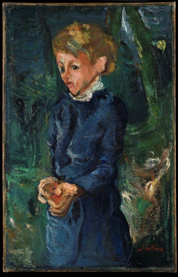 Soutine Chaim , Girl in Blue קרדיט צילום עופרית רוזנברג)