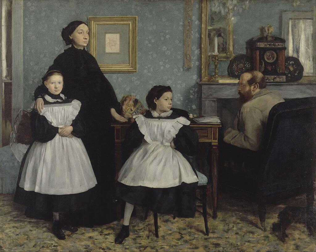 משפחת בליני 1858 אדגר דגה