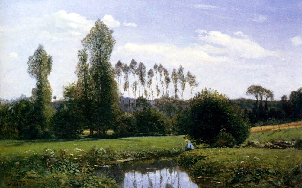 קלוד מונה, נוף ברולה, 1858