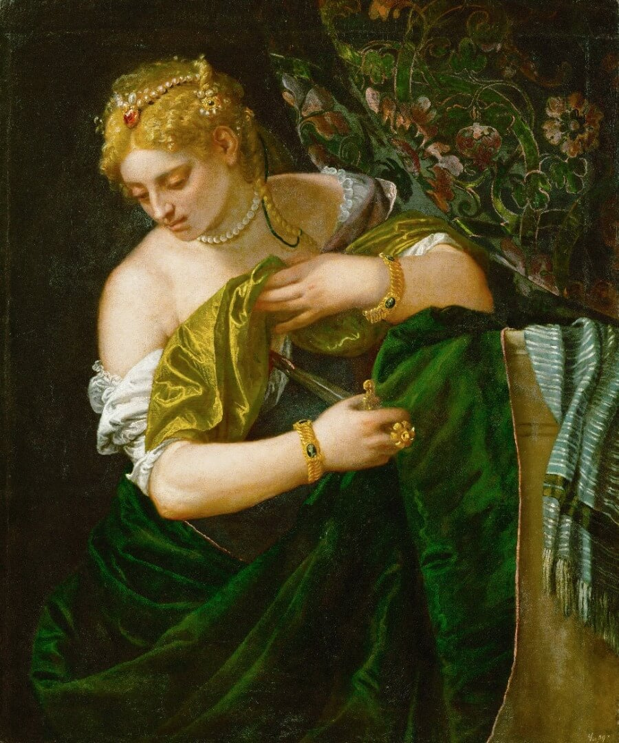 Lucretia is a painting by Paolo Veronese from c