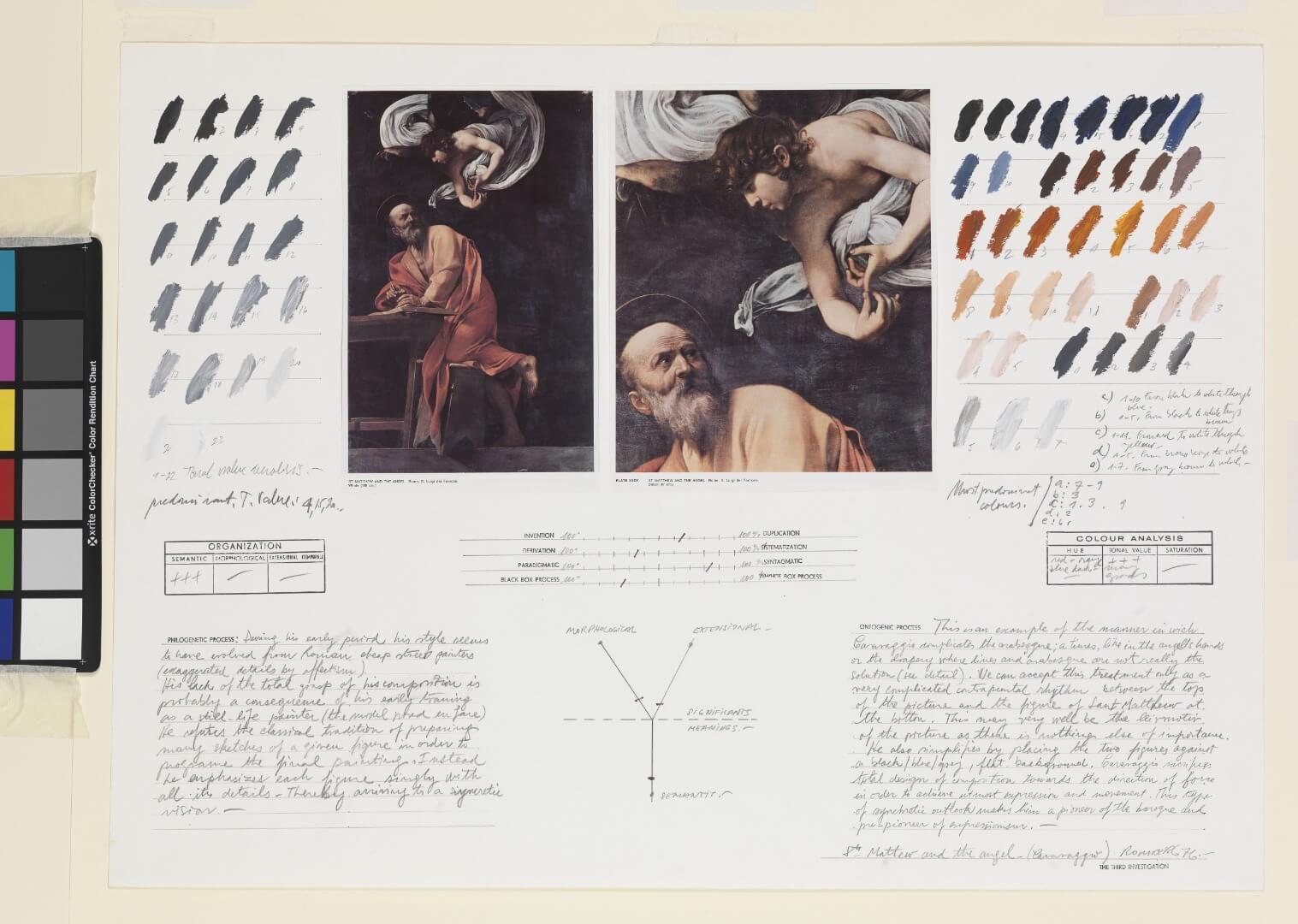 אוסבלדו רומברג, הקדוש מתי והמלאך 1976, מוזיאון ישראל, צילום- אלי פוזנר