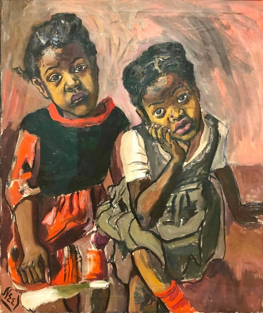 4_Alice Neel, Two Girls, Spanish Harlem, 1959
