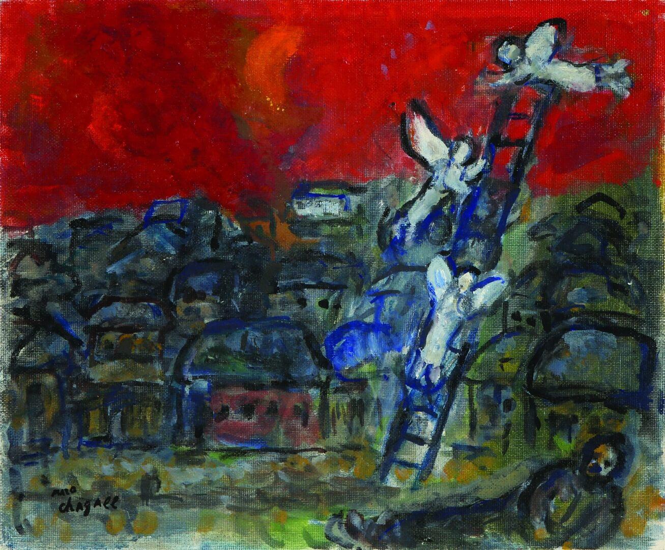 מארק שאגאל, סולם יעקב, 1970-1974  קרדיט צילום