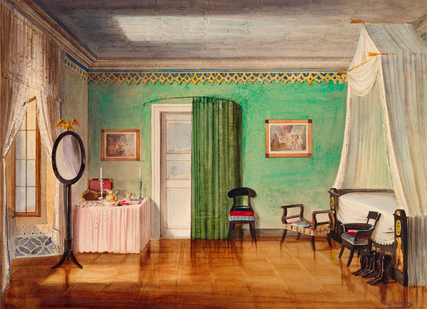 רותבארד, חדר השינה של הנסיך ארנסט 1, 1845