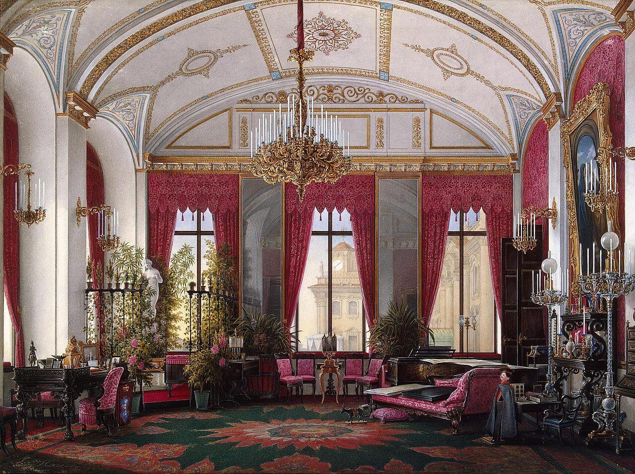 אדוארד האו, חדר העבודה של הצארינה מריה אלכנסדרובה בארמון החורף, 1860