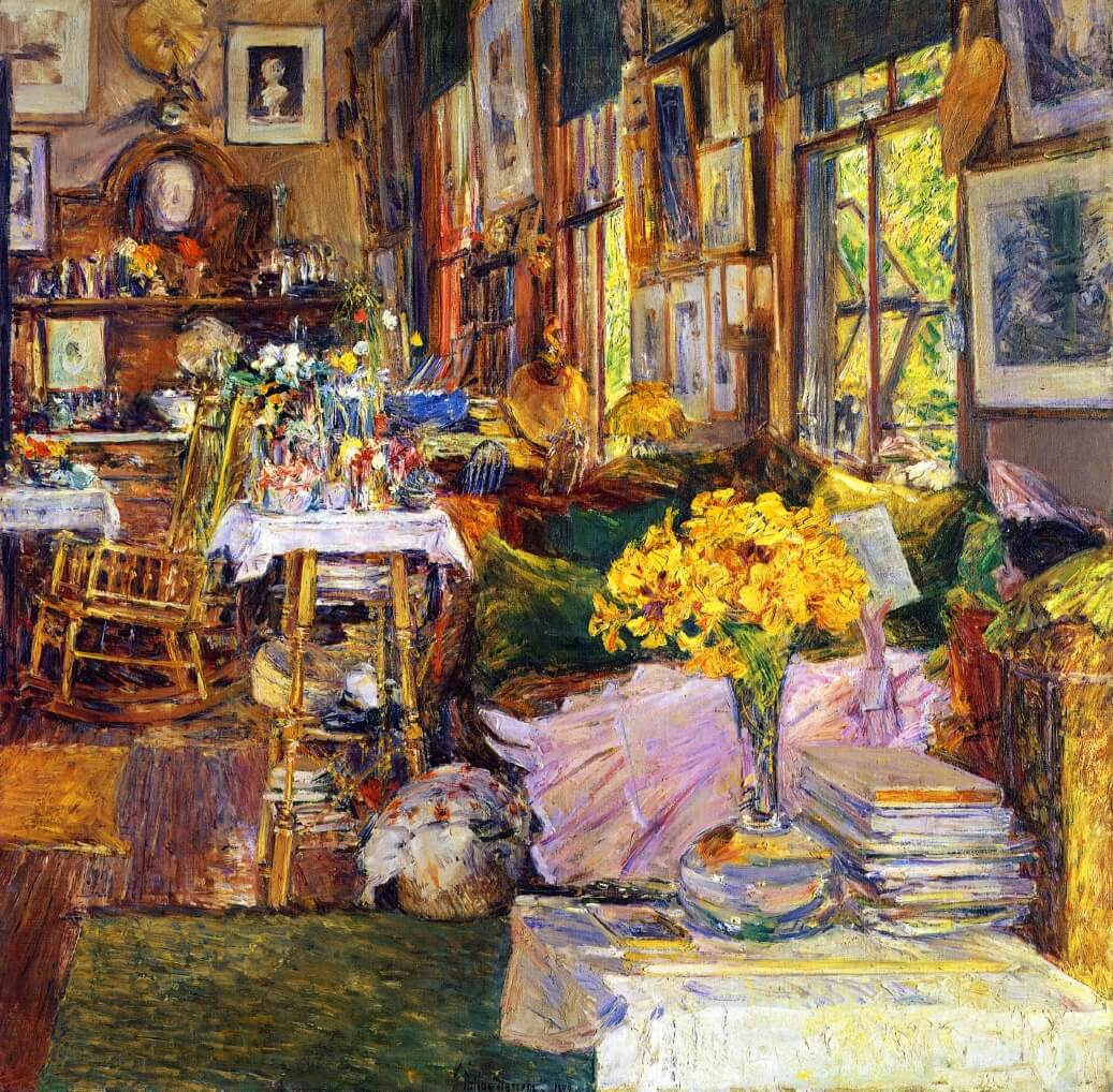 the-room-of-flowers, hassam